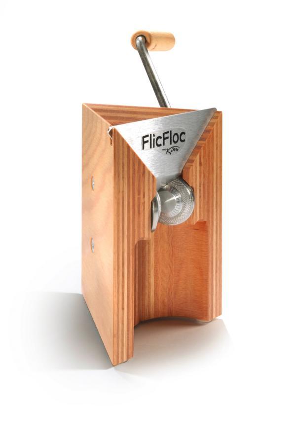 K800 FlicFloc L 50x50 - KoMo Flocino Handflocker Müsliquetscher - Queschmenge ca. 100g/min bei Hafer-Flocken -